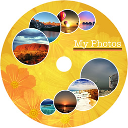 beautiful photo disk cover
