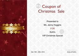 certificate of Christmas sale