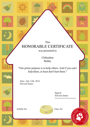 honorable certificate
