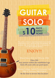 flyer template for guitar solo enjoying