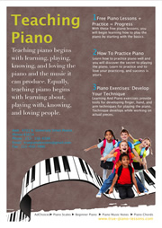flyer template for piano teaching