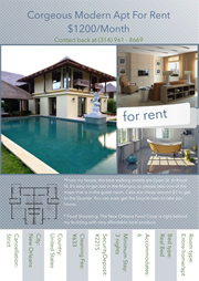 flyer template for modern house rent
