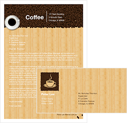coffee eating letter template