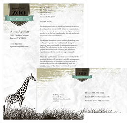 letter to zoo template
