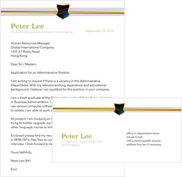 simple envelope and letter template