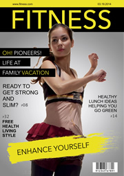fitness house magazine template