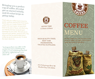 full coffee menu template