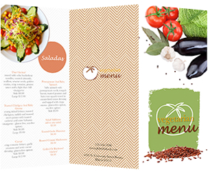 popular salad menu template