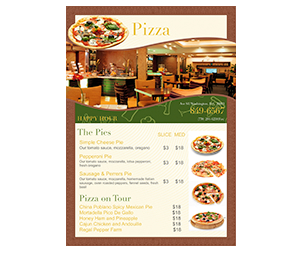 pizza pie menu template