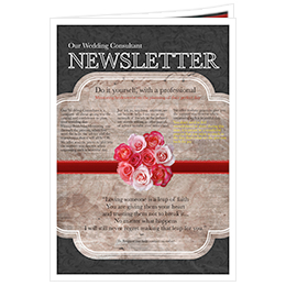 free wedding newsletter templates