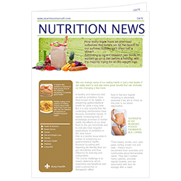 newsletter template of nutrition news