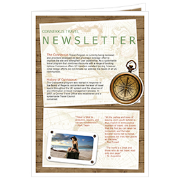 beautiful newsletter design of travel