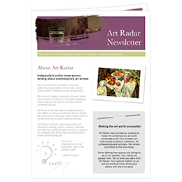 art radar newsletter template