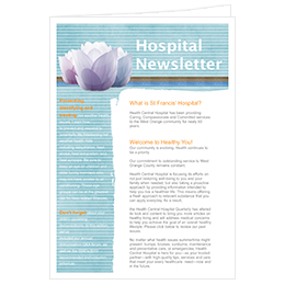 hospital newsletter design