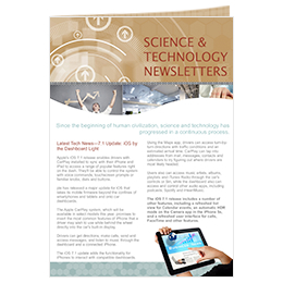 science and technology newsletter template