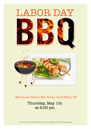 printable poster for BBQ day