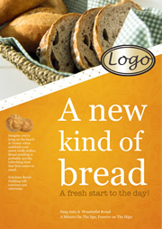 printable poster template for a new kind of bread