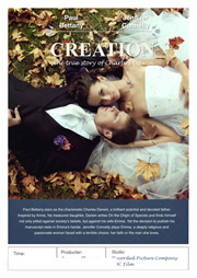 Creation movie poster for printing
