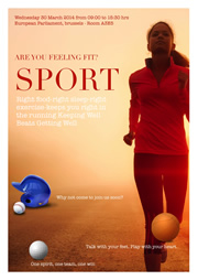 poster template of sport activity
