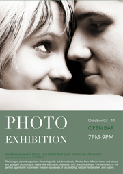 poster templates of photo exhibition
