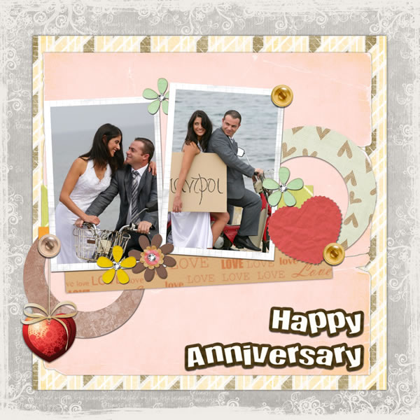 anniversary scrapbook templates  u0026 samples
