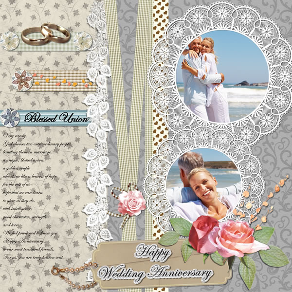 Wedding Album Design Software Digital Photography Free Download: Anniversary Scrapbook Templates & Samples