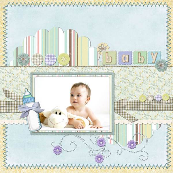 baby scrapbook templates