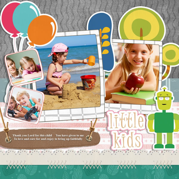Photo Album Examples: Kids Scrapbook Templates