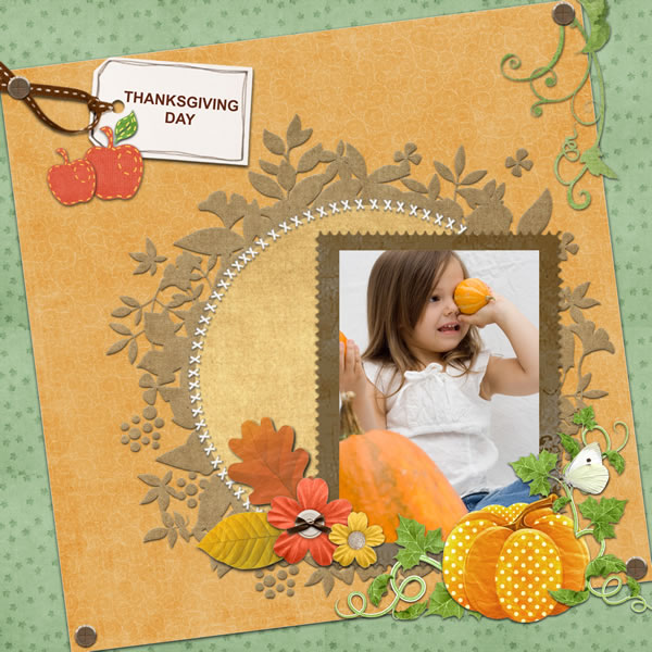 Thanksgiving Scrapbook Templates Thanksgiving Scrapbook Designs