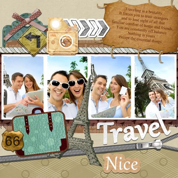 Travel Scrapbook Templates Travel Scrapbook Designs