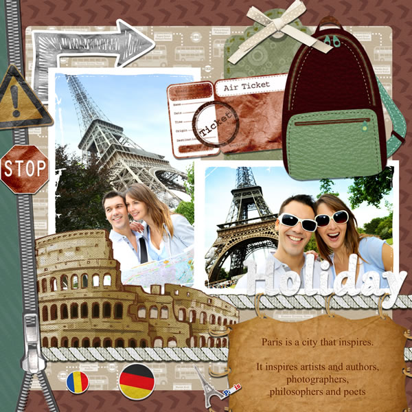 Travel Scrapbook Templates Travel Scrapbook Designs