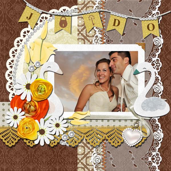 wedding scrapbook template