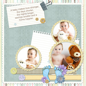 lovely baby scrapbook template