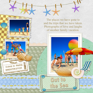 scrapbook template for travel