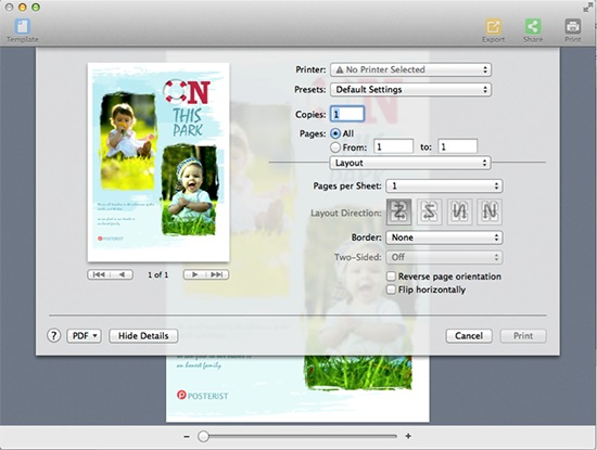 how to make a poster on mac