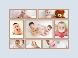 lovely baby in center collage template