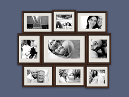 Make a photo collage with brown borders