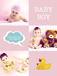 cute baby boy collage template