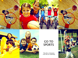 Reserve some sports photos to make a collage