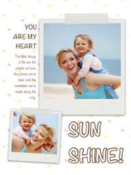Make a photo collage for your dear mom