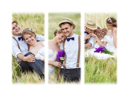 The most beautiful wedding collages