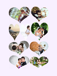 Create a unique and memorable weeding collage