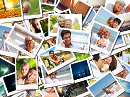 Find the most attractive photo collage template for travel