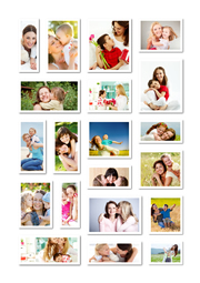 beautiful collage template for mother's day