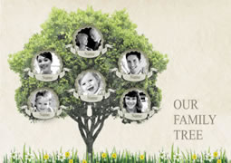 Family tree collage template