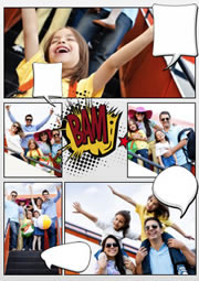 fantastic comic collage template