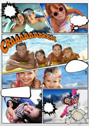 classic comic photo collage template