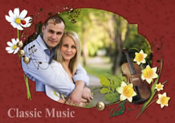 Beautiful photo frame collage template