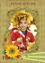 Autumn picture frame collage tempalte