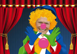 fun clown photo collage template